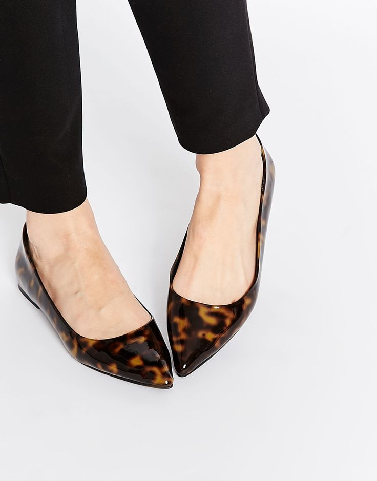 Image 1 of ASOS LIFE STORY Pointed Ballet Flats