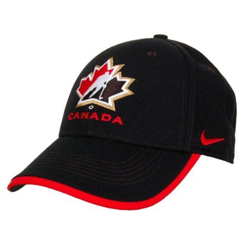 Team Canada IIHF Legacy91 Adjustable Cap (Black) Size One Size/Adjustable by Nike. $27.00. The IIHF Legacy91 Adjustable Cap features: - 100% polyester dri-FIT material - Structured 6 panel cap with heavy buckram and embroidered eyelets - 3D embroidered team logo on front - Nike swoosh embroidered on side - Velcro adjustable closure with CANADA embroidered on tab