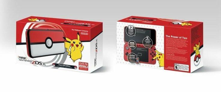 New Nintendo 2DS XL Pokeball Limited Edition Poke Ball RARE Handheld Pokemon #Nintendo
