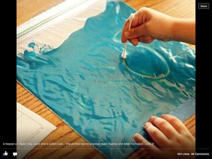 Fab idea for non messy mark making