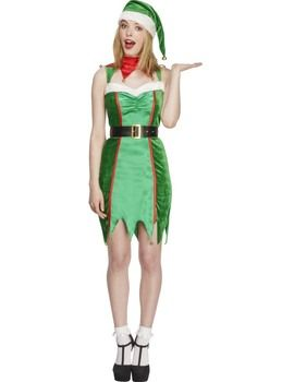 Fancy Dress - Adult Fever Naughty Elf Costume: Includes dress belt and hat. #UKOnlineShopping #UKShopping