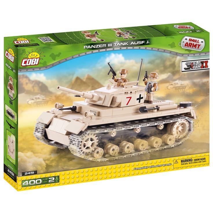Cobi Small Army German Panzer III Ausf. color Building Kit