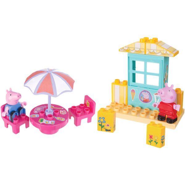 Peppa Pig Ice Cream Shop Playset 24pc | Party City