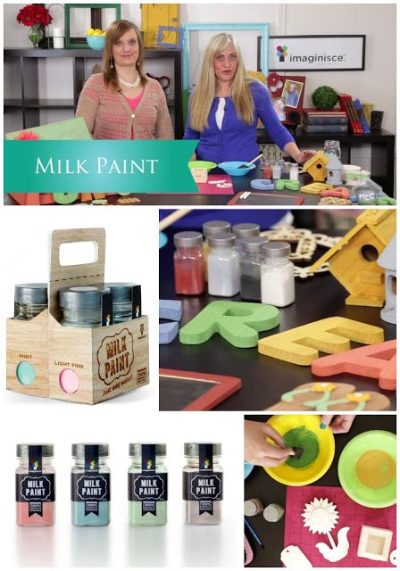 Imaginisce: Milk Paint Intro  Check out the Imaginisce Imaginistas as they show you a fun and easy new way to paint! Milk paint is a non-toxic powder based paint that adds a little pizazz to any porous surface. Furniture, chipboard, pallets…Milk paint makes everything look better! #mycraftchannel #imaginisce #milkpaint #DIY