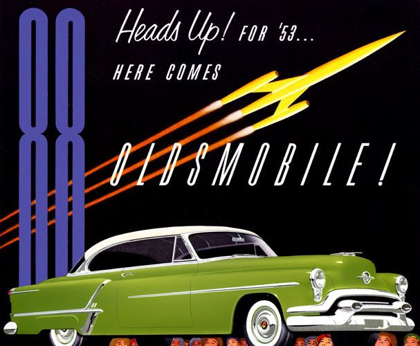 Plan59 :: Classic Car Art :: Vintage Ads :: 1953 Olds 88