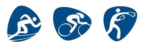 Running, Cycling and Boxing Dalton Maag rio olympics pictograms