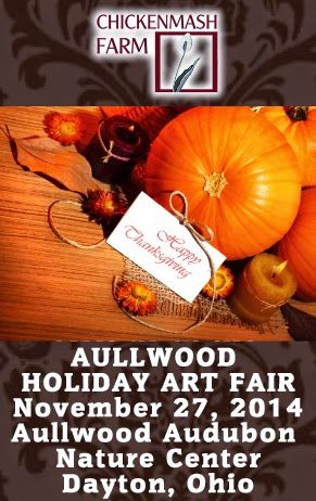 Aullwood audobon natural center holiday art fair november 29th