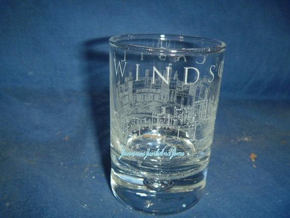 SHOT GLASS  ENGLISH  Found In France by GlassEyedGoblin on Etsy, €10.00