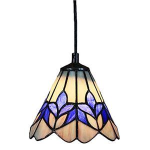 Tiffany Lights - Tiffany Pendants - 60W Glass Tiffany Pendant Light in Purple Flower Pattern