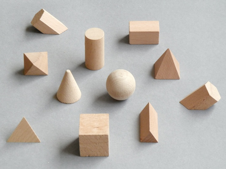 Vintage wooden polyhedra