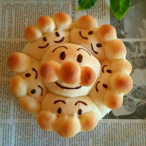 お子様大興奮〜♡アンパンマンのふわふわちぎりパン♡