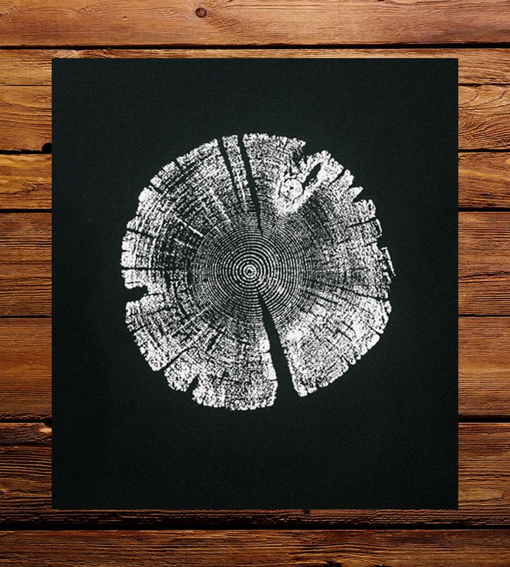 Black Lodgepole Pine Tree Ring Art Print by LintonArt on Scoutmob