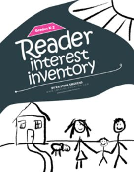 Reader Interest Inventory: K-2--Use Reader Interest Inventories to get to know your students better as readers. Knowing more about what your students like will help you determine what they might like to read. Taking time to do Interest Inventories is an investment that will pay dividends later, especially for the struggling readers who often believe there isn't anything they would enjoy reading. (Also available for Grades 3-5 and Grades 6-12.) FREE!