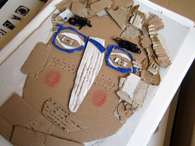 Cardboard self portraits...Love this!