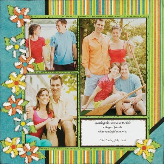 scrapbooking layouts, scrapbook ideas scrapbook ~ everyday stuff ~ - Scrapbook.com colorful and cute layout