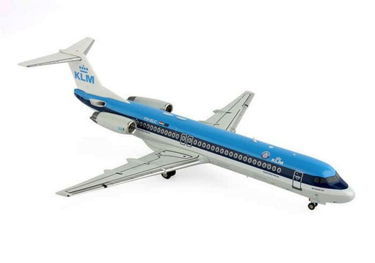 JC Wings KLM Fokker 100 (F-28-0100) diecast pesawat 17 cm 490rb