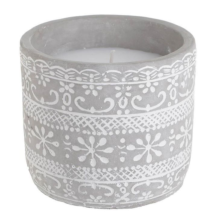 Cement Candle - Candles - Aromatics - DECORATIONS - inart