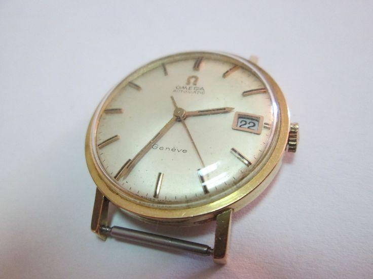 Vintage Omega Automatic 18K Gold Wristwatch
