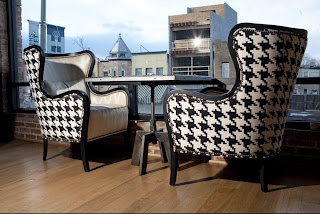 Oversized houndstooth. Houndstooth chairs. | Houndstooth ...