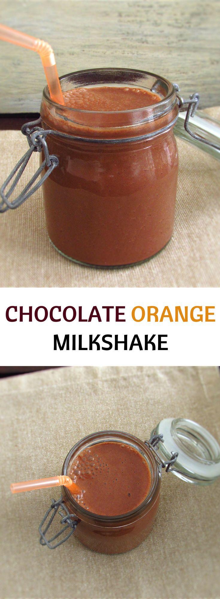 Chocolate orange milkshake   Food From Portugal. This chocolate orange milkshake is an excellent choice on a hot summer afternoon! Quick, simple, delicious and quite refreshing... #milkshake #recipe #chocolate #orange