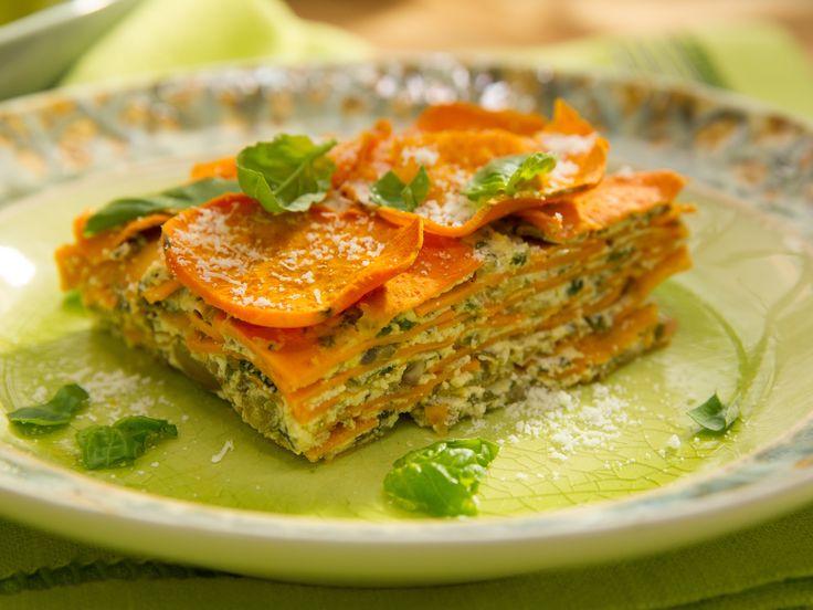 Sweet Potato and Mushroom Lasagna Recipe : Jeff Mauro : Food Network - FoodNetwork.com