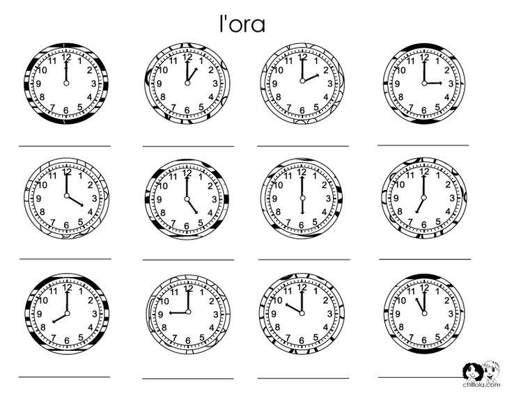 time worksheet italian