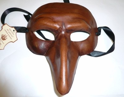 Maschera Veneziana Pantalone in cuoio