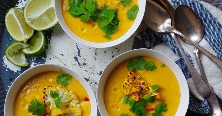 Blomkålsuppe med kokosmelk, chili og ingefær