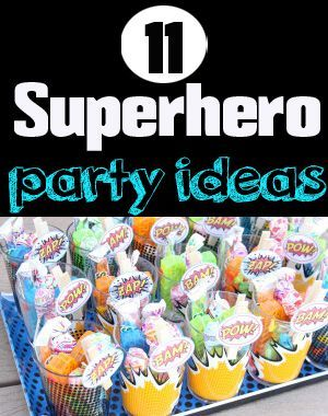 11 Superhero Party Ideas for BOYS.  Fun party games, super hero face painting and more!
