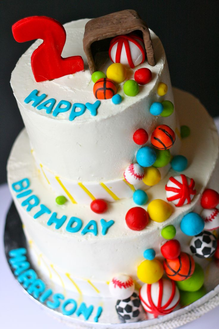 Ball themed birthday cake    GoodieBox Bakeshop Hoboken, NJ