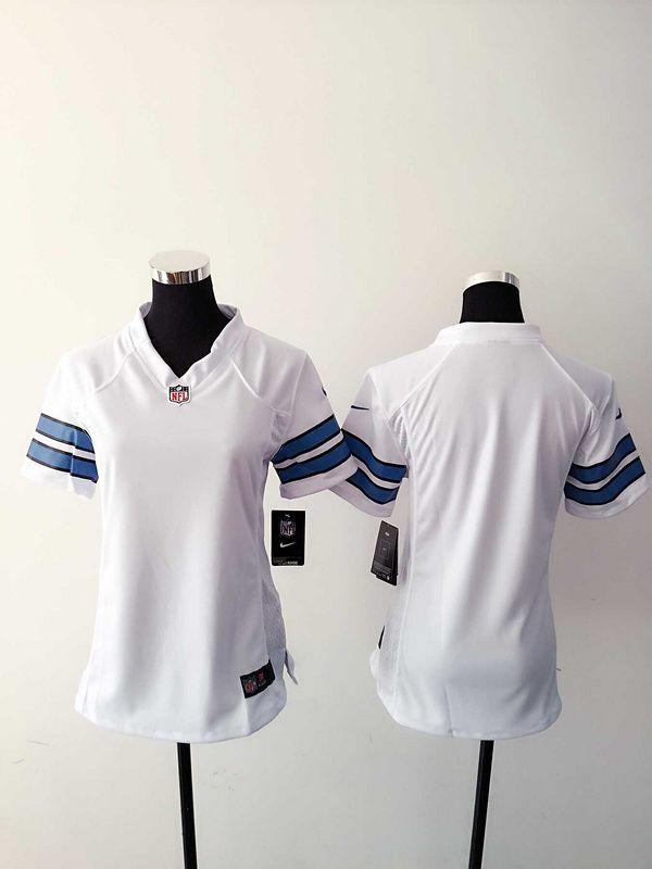 63a7b6905 Womens Detroit Lions Blank White Nike Jerseys