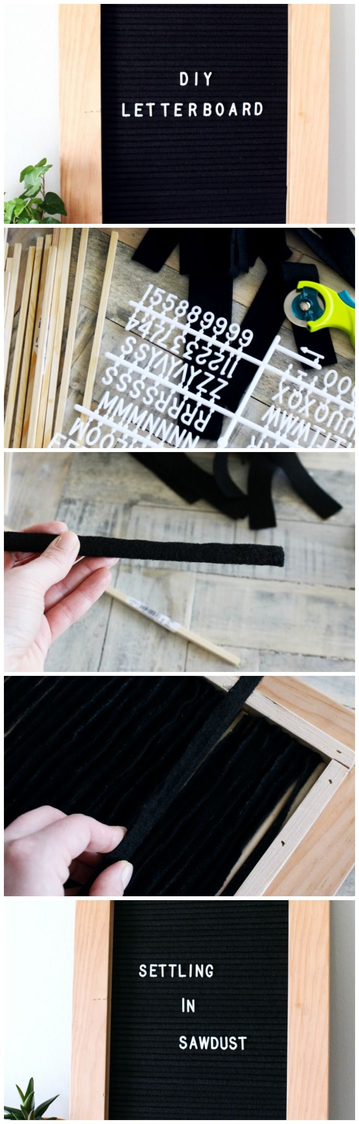 Create your own vintage felt letterboard with this easy DIY.