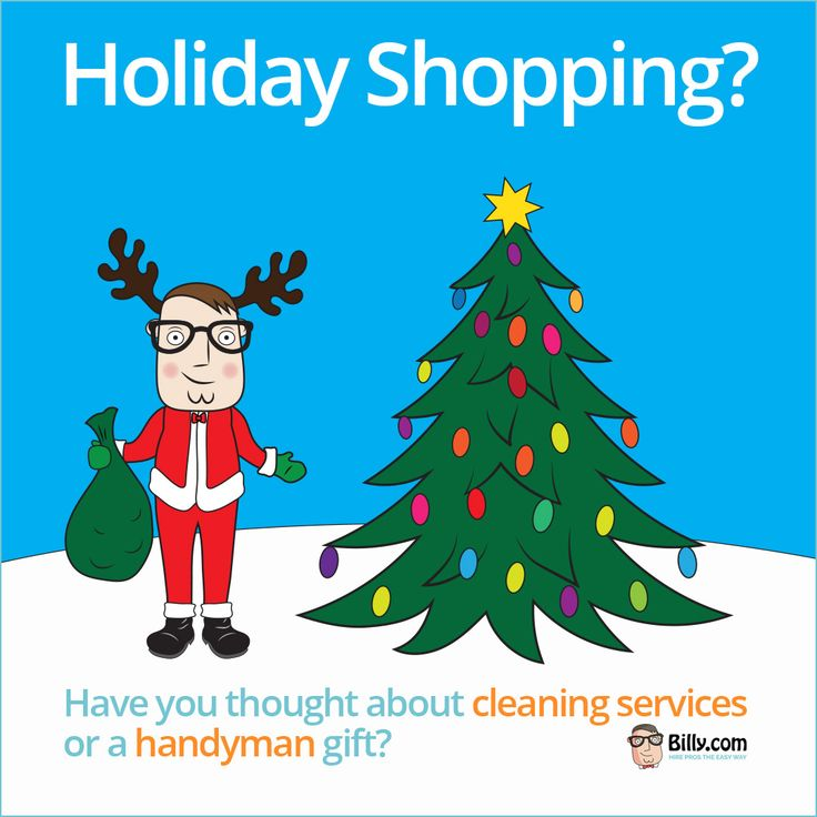Holiday Shopping? How about cleaning services?