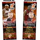 Miami Heat Ticket Birthday party invitations - Printable