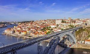 The iconic Dom Luis bridge crossing the Douro River
