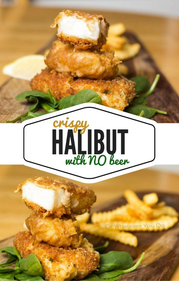 Amazing crispy battered halibut recipe made with NO BEER, and NO SODA.