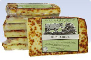 Carr Valley Bread Cheese sold by Gourmet-Food.com. This looks good!  Nutrition summary: Calories 110,  Fat 9g,  Carbs 1g,  Protein 6g. There are 110 calories in a 1 oz serving of Carr Valley Bread Cheese. Calorie breakdown: 74% fat, 4% carbs, 22% protein.
