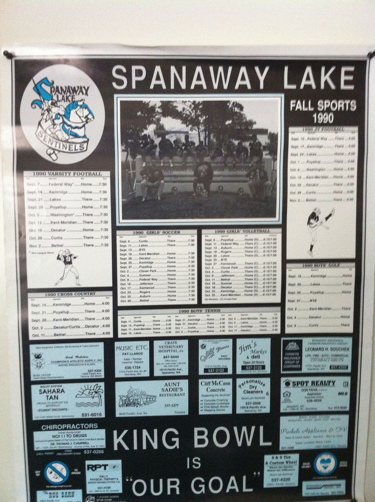 Old Spanaway Lake High School football poster High
