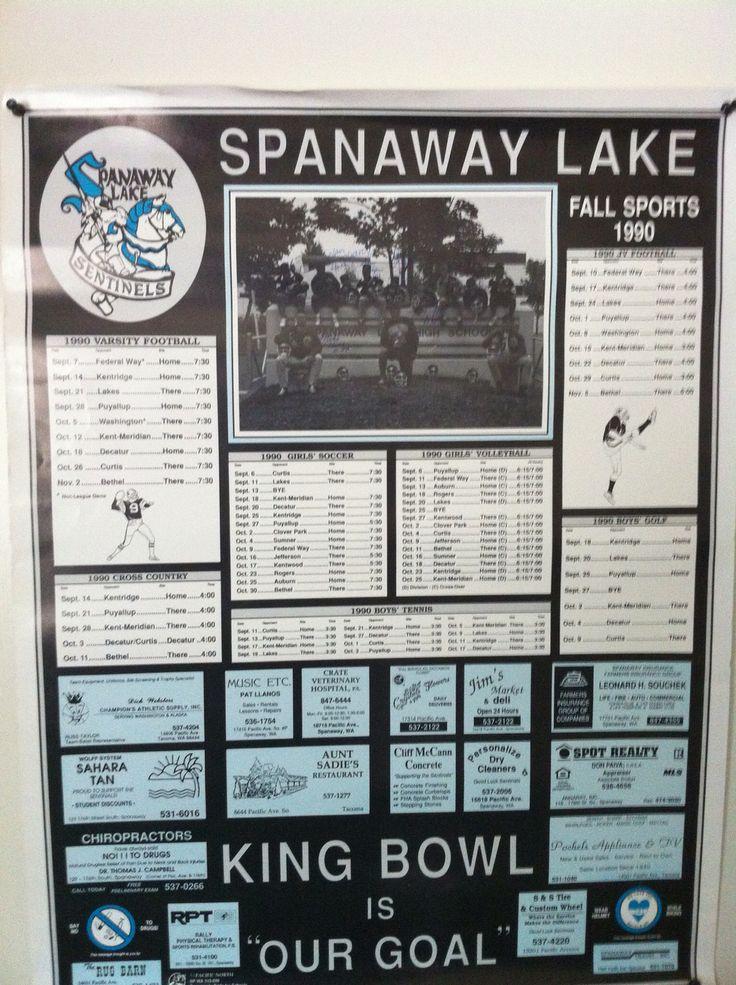 Old Spanaway Lake High School football poster High