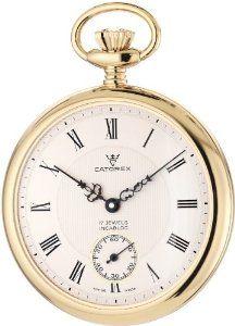 Catorex Men's 170.6.1824.410 Les Breuleux 18k Gold Plated Brass White Textured Dial Pocket Watch Catorex. $838.84