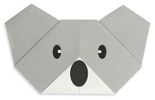 Easy Origami For Kids.: Koala(face)