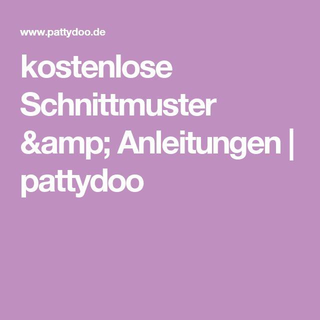 kostenlose Schnittmuster & Anleitungen   pattydoo