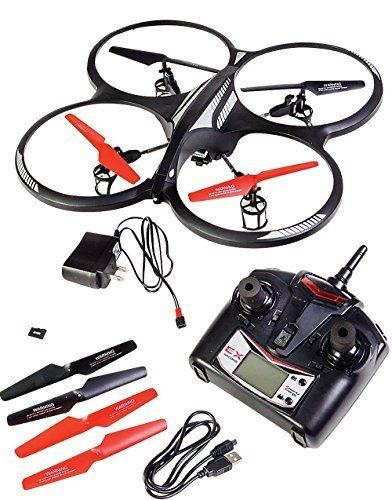 Remote Control Toy Flying Helicopter Spy Drone Quadcopter With HD Video Camera by Rhode Island Novelty - http://www.midronepro.com/producto/remote-control-toy-flying-helicopter-spy-drone-quadcopter-with-hd-video-camera-by-rhode-island-novelty/