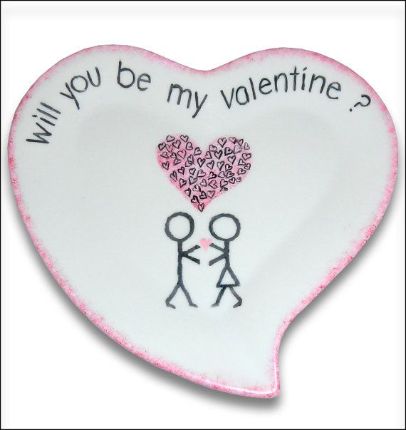 OneofaKind Stick Figure Couple Ceramic Plate by SerendipityCrafts, $25.00