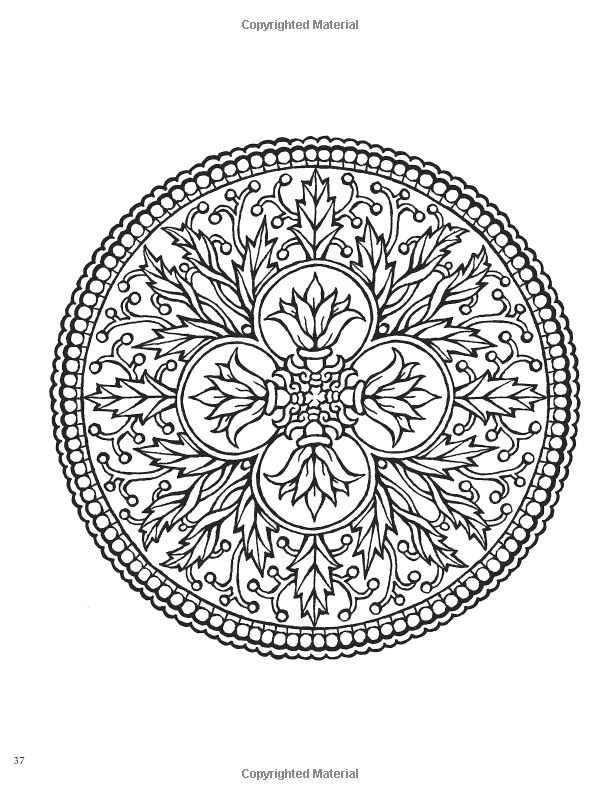 Creative Haven Mandalas Collection Coloring Book By Marty Noble Dover And Alberta Hutchinson