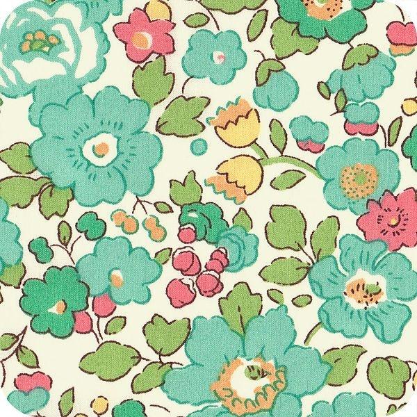 Tissu liberty Betsy turquoise