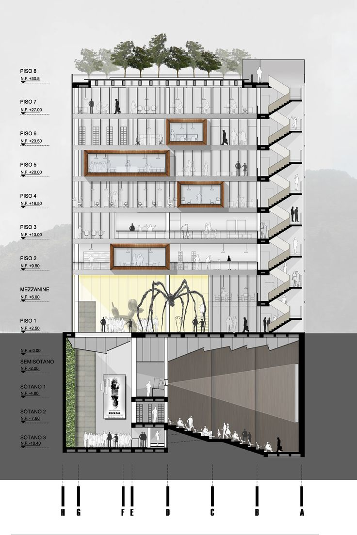 Las 25 mejores ideas sobre cortes arquitectonicos en for Cursos de arquitectura uni