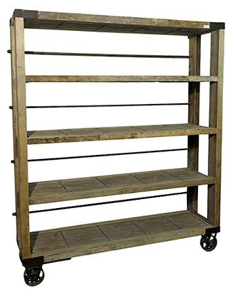 pallet butcher's block/cart for window area in kitchen