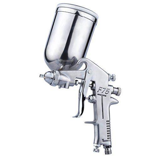 Auarita F-75G Pistolet de Pulvérisation 1.5mm Gravité Air Spray Gun Pistolet de Peinture Outil de Peintre avec 400cc Godet Argenté Buse en…