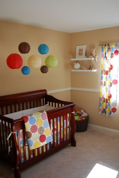 SUPER cute! Love the colors for a boys room.